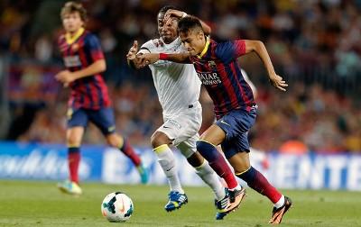 Барселона сантос гол неймара