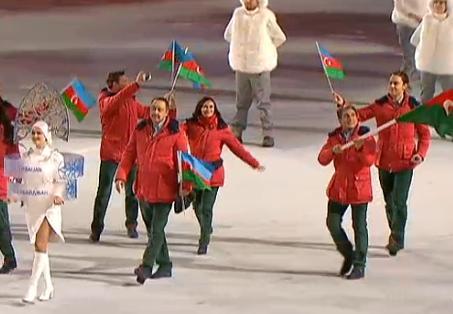 Сборная Азербайджана приняла участие в церемонии открытия Олимпиады в Сочи - ФОТО