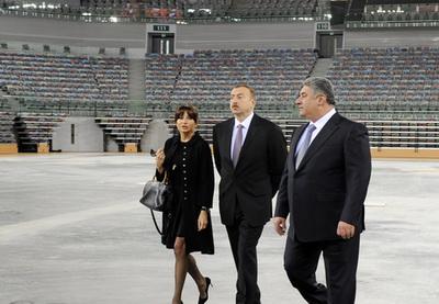 Ильхам Алиев ознакомился с ходом строительства Национальной гимнастической арены - ФОТО