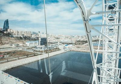 Панорама Баку с нового «Чертового колеса» - ФОТО