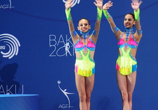 Успех азербайджанских гимнасток во второй день Евро-2014 в Баку - ФОТО