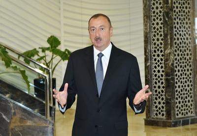 Ильхам Алиев: «Мы должны отставить в сторону нефть, газ, вообще забыть о них» - ФОТО
