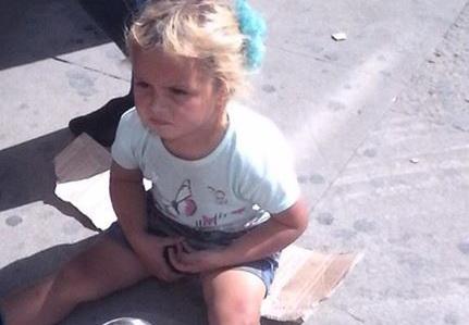 В Баку ребенка сделали попрошайкой – ФОТО