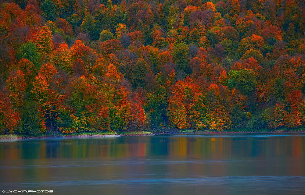 Завораживающая осенняя красота озера Гейгель – ФОТО