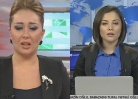 Ведущие каналов ATV и ANS расплакались в прямом эфире, читая последние сообщения нефтяников – ВИДЕО