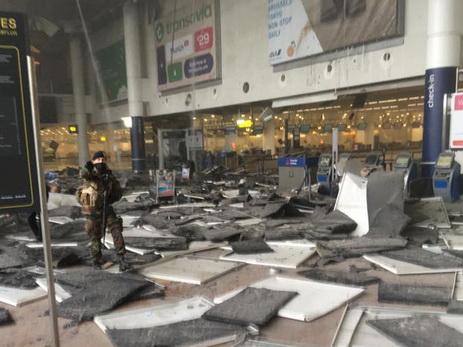 Брюссель после взрывов ваэропорту иметро (1)