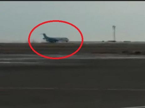 «Мурашки по коже»: опубликовано видео аварийной посадки самолета в Астане - ВИДЕО