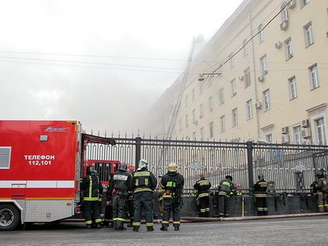 Пожар в помещении Минобороны в столице России ненарушил работу служб