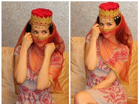 Наталья Орейро примерила азербайджанский женский национальный головной убор – ФОТО – ВИДЕО