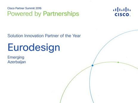 """Eurodesign şirkəti """"Cisco Solution Innovation Partner"""" kateqoriyası üzrə Mərkəzi Avropa və EMEAR Emerging regionunun ən yaxşı tərəfdaşı seçilib – FOTO"""
