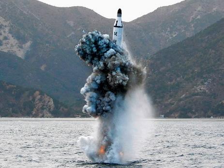 Северная Корея сделала запуск ракеты сподводной лодки