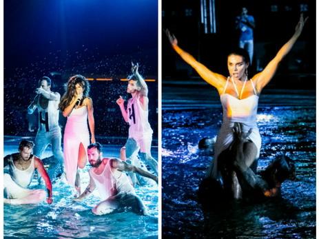 Анна Седокова представила на фестивале «Жара» «горячий» концертный номер в бассейне – ФОТО