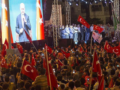 Около 20 000  человек вКельне вышли наакцию поддержки Р.Эрдогана