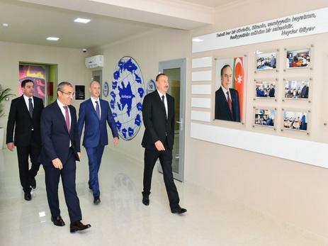 Президент Азербайджана ознакомился с условиями в академии IT STEP, созданной на базе Бакинского профлицея №9 - ФОТО