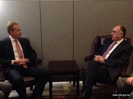 Руководитель МИД Азербайджана встретился ссопредседателями Минской группы ОБСЕ