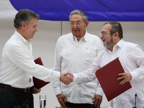 Власти Колумбии иповстанцы FARC подписали соглашение омире