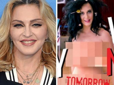 Мадонна вслед заКэти Перри разделась вподдержку Хиллари Клинтон