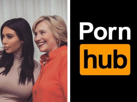 Хилари Клинтон поддержала Ким Кардашьян, а Pornhub начал охоту за интимным видео