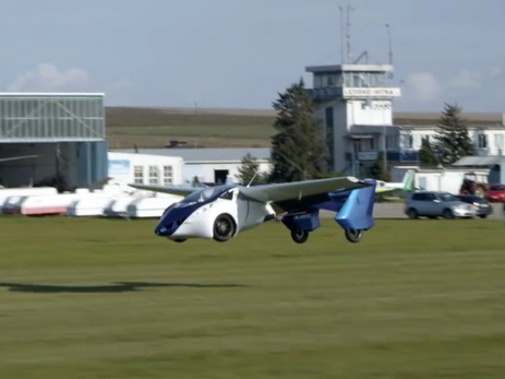 Реализацию летающего автомобиля хотят начать в предстоящем году