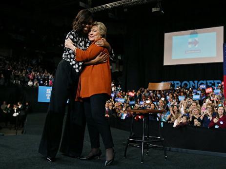 Клинтон пообещала Мишель Обаме сохранить огород водворе Белого дома