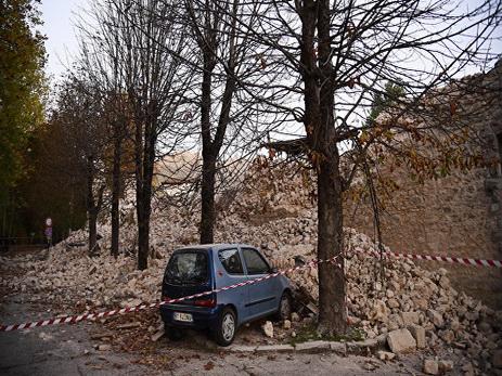 ВИталии снова случилось землетрясение