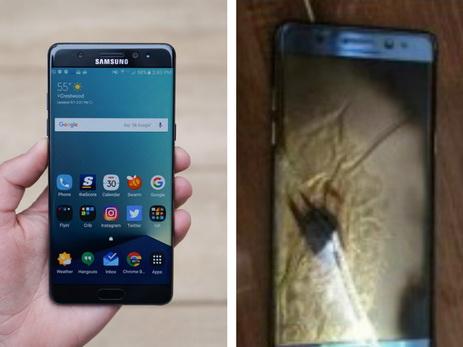 Galaxy Note 7 зажегся увора вруках