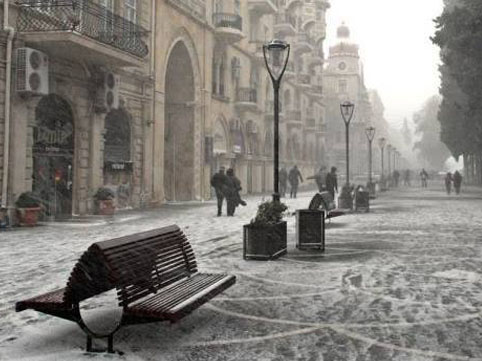 На Абшероне в ночь на субботу морозно, возможен снег