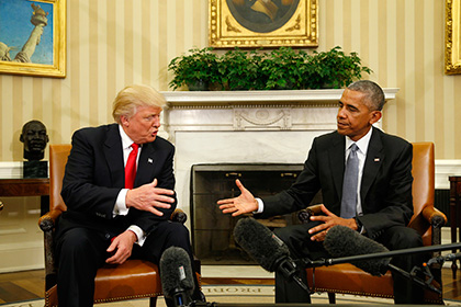 Трамп иОбама отлично идолго разговаривают друг сдругом