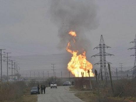 ВАзербайджанской столице произошел взрыв нагазопроводе