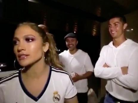 Дженнифер Лопес подарила сестре на день рождения встречу с Криштиану Роналду - ВИДЕО