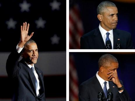 Obamanın vida nitqi və göz yaşları – FOTOREPORTAJ