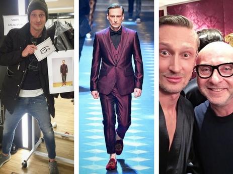 Бакинец Вадим Галаганов вышел на подиум в рамках Миланской недели моды - ФОТО