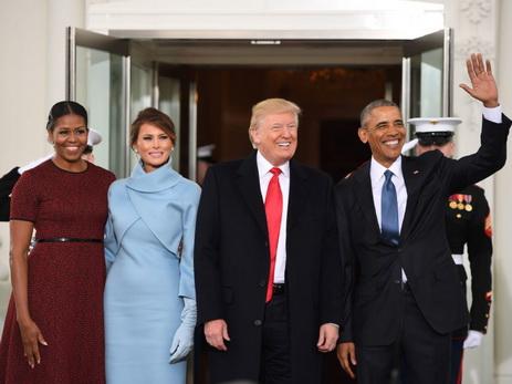 Барак иМишель Обама направились изВашингтона вотпуск вКалифорнию