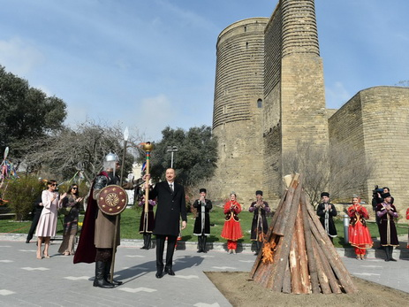 Президент Ильхам Алиев принял участие в общенародном праздновании Новруза - ФОТО