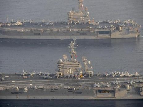 Ударная группа ВМС США уходит кКорейскому полуострову