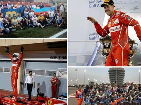 Послесловие к Гран-при Формулы-1 в Бахрейне: адская жара, бравые азербайджанские маршалы, идеальный заезд Феттеля – ФОТО – ВИДЕО