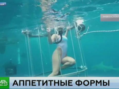 Напорноактрису впроцессе съемок напала акула