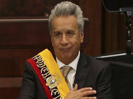 Ленин Морено вступил вдолжность президента Эквадора