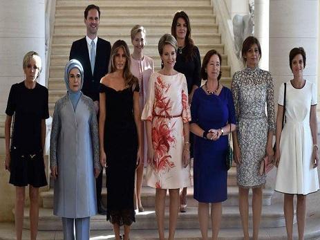 Обычное фото жен лидеров НАТО украсил супруг премьера Люксембурга