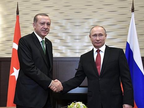 Путин потелефону обсудил сЭрдоганом ситуацию вСирии
