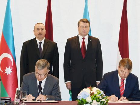 Состоялась церемония подписания азербайджано-латвийских документов – ФОТО