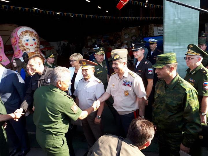 Закир Гасанов принял участие в церемонии закрытия «Армейских игр-2017» - ФОТО