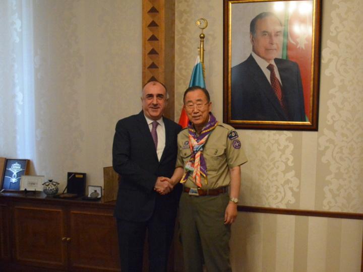 Глава МИД Азербайджана довел до экс-генсека ООН позицию Баку по Карабаху - ФОТО