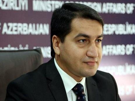 Hikmət Hacıyev: Azərbaycan terrorizmdən əziyyət çəkən dövlət kimi terrorizmi kəskin şəkildə qınayır