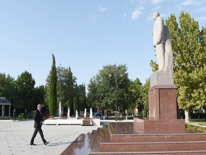 Ильхам Алиев принял участие воткрытии Шамкирского агропарка