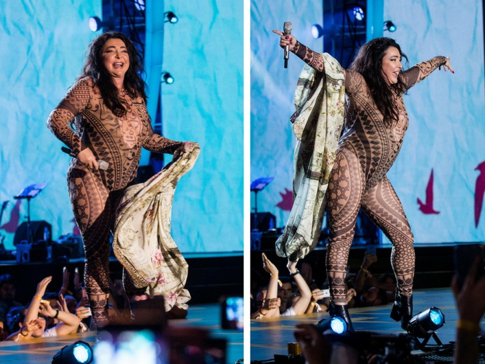 Разделась жена на сцене