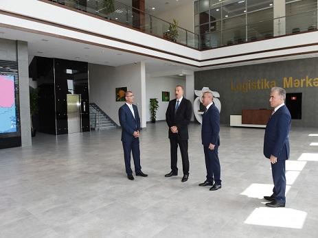"""İlham Əliyev """"Şəmkir Aqroparkı""""nın Logistika Mərkəzinin açılışında iştirak edib – FOTO"""