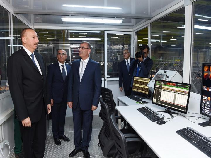 Президент Ильхам Алиев принял участие в открытии Логистического центра Шамкирского агропарка - ФОТО