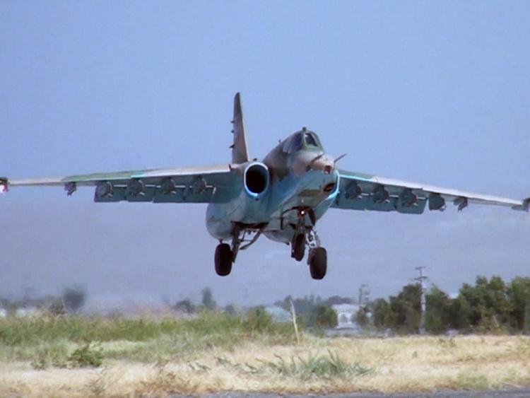 ВНахчыване штурмовики Су-25 провели учебные полеты
