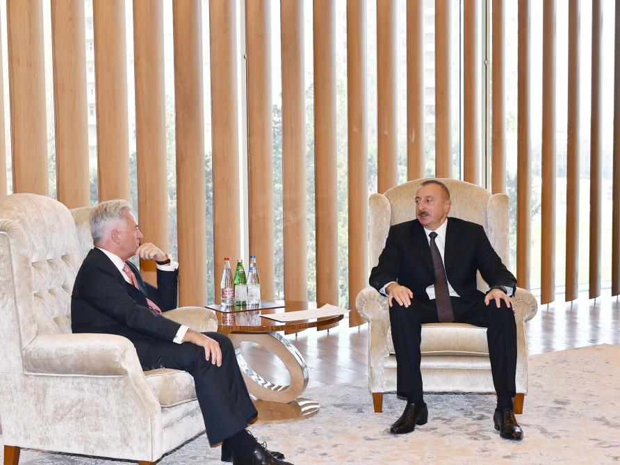 Президент Ильхам Алиев встретился с государственным министром Великобритании - ФОТО
